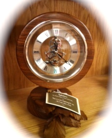 Handcrafted Walnut Skeleton Clock - SOLD- We can take orders to make a similar clock